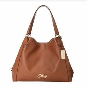 Coach Edie Brown Leather Handbag